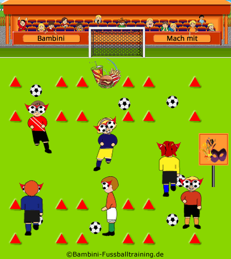 So Losen Die Kinder Den Blick Vom Ball Im Dribbling Training